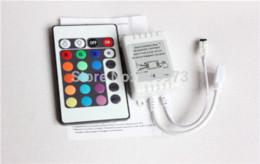 Wholesale Ir Strip Lights - 10pcs lot 24 Keys IR RGB remote controller for LED module and LED strip lights 72Watts output