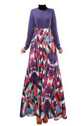 Wholesale Xl Muslim Woman Clothes - 2015 Muslim dress clothing female long sleeve pretty flower print India dress Muslim Malay suit 3 color Elegant Dress D526L