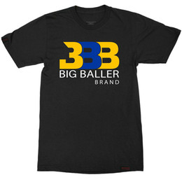 Wholesale Fans Clothing - Fan classic t shirt Lonzo Ball designer short sleeve gown Basketball BBB sport tees Leisure unisex clothing Quality cotton Tshirt