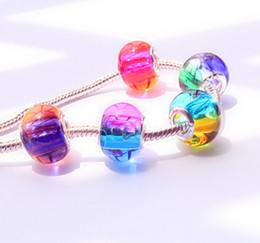 Wholesale Cheap Jewelry Cross Bracelets - 2016 NEW!DIY big hole glass beads,Rainbow color Pandora charm bracelet accessories,wholesale Loose beads,Fashion cheap jewelry.20pcs.DB