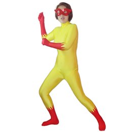 Marvel traje de superhéroe cosplay online-Marvel Comics Firestar Spandex Traje de superhéroe Halloween Cosplay Traje de lycra Spandex Zentai