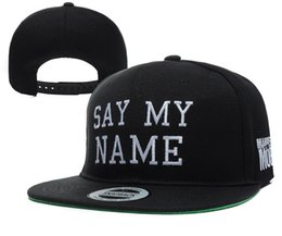 Wholesale Mob Snapback - Wholesale-NEW SAY MY NAME BITCH Panel hat MARRIED TO THE MOB Flat Bill Snapback Cap men polo Hip Hop hat Straps Baseball Cap swag 8 styles