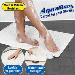 Wholesale Aqua Showers - Non Slip AquaRug Carpet Aqua Rugs Mat For Shower Bath Water Area Bathroom Safe With Logo Packing