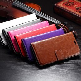 Wholesale A5 Photo Frames - Crazy Horse Mad Oil Leather Wallet For Galaxy (A7,A5,A3)2017,S7 Edge S6 SVI G920 Active G890 A310 A510 A710 Photo Frame Holster Flip case