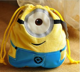 Wholesale Despicable Plush Bags - 2014 new sale brinquedos plush backyardigans plush cartoon minion despicable me drawstring draw string cord bag 18*18cm