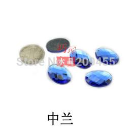 Wholesale Diamonds Tongue Rings - Hot!!! Created crystal diamond 13*18mm Flat egg shaped for mobile phone beauty in bulk 100pcs lot