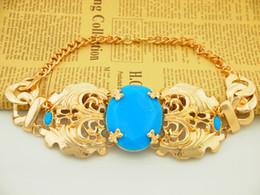Wholesale Anna Russo - Wholesale-Korean version popular vintage Anna Dello Russo star turquoise Statement Bracelets&Bangles Fashion Jewelry For Women 2015 SJ19