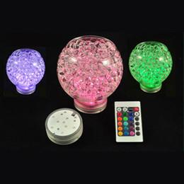 RGB Çok renkler Uzaktan kumanda 16 renkler Dalgıç LED ışık, düğün kutlamaları için LED vazolar baz ışık cheap led base lights for vases nereden vazolar için taban aydınlatmaları tedarikçiler