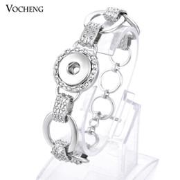Wholesale Charm Bracelet Custom - Vocheng NOOSA Ginger Snap Bracelet 18mm Custom Button Interchangeable Snap Charm Jewelry NN-350