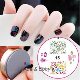 Wholesale Nails Art Ice Cream - Wholesale-Free Shipping Ice Cream Design Nail Polish Printing Template, DIY Silicone Nail Painted Tools, Art Stamping 15Designs