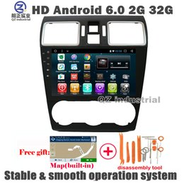 Wholesale Gps For Subaru - QZ industrial 9inch HD 1024*600 Android 6.0 For Forester XV 2017 Car DVD Player With 3G 4G GPS WIFI Navigation Radio Stereo BT SWC free map
