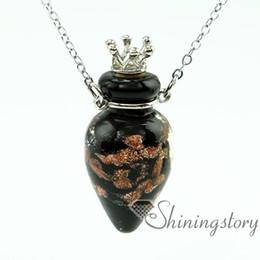Wholesale Miniature Glass Bottle Vials - round aromatherapy jewelry scents aromatherapy jewelry diffusers perfume vial necklace miniature glass bottles essential oil pendant diffuse