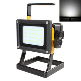Wholesale Dc Led Floodlight Outdoor - 20 SMD LEDs 3 Modes Waterproof LED Floodlight Camping Lamp Rechargeable Emergency Light For Outdoors With Charger