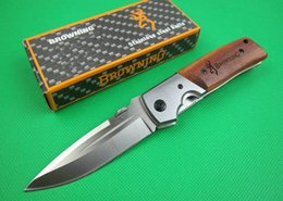 Wholesale browning knife drop shipping - Best folding survival knife OEM Browning DA50 pocket camping hunting knife outdoor tool 5Cr15Mov 57HRC blade drop shipping