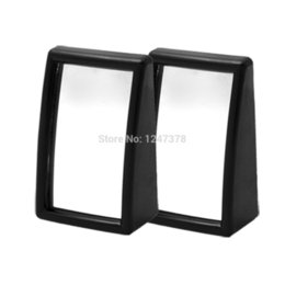Wholesale Wholesale Modle Cars - 2 Pcs lot squire Convex Wide Angle car Blind Mirrors Spot Black universal truck bus suv all modle side rearview mirrors M5457