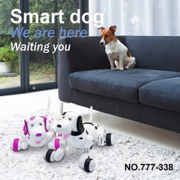 Wholesale Electronics Dance - Happycow 777-338 2.4G RC dog Radio Robot Animal Simulation Smart Dog Remote Control Toy Intelligent Electronic Dance Pet FSWB