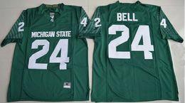 Wholesale Michigan State Football Jerseys - Le'Veon Bell 24 Michigan State Spartans College Alumni Football Limited Jersey - Green Stitched Jerseys