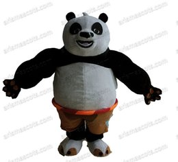 Wholesale Panda Mascots - NEW Arrival movie character kungfu panda mascot costume Adult Fancy Costume Party dress