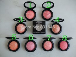 Wholesale Mineralize Blush 12g - Wholesale-free shipping new makeup Mineralize Blush FARD A JOUES Mineralize BLUSHER 12g(1pcs starting  lot) 8 colors choose