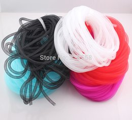 Wholesale Bracelet Thread Wholesale - Diameter 8mm Bracelet Mesh Cord Tubing Tube Plastic Net Thread Cord String DIY Jewelry Cord Findings O106