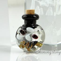 Wholesale Empty Glass Bottle Necklaces - small glass bottles for pendant necklaces empty vial necklaceminiature glass jars glass vial for pendant necklace