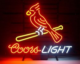 """Wholesale Coors Beer Advertising - New Coors Light Cardinal Bird Neon Sign Custom Handcrafted Real Glass Tuble Beer Bar KTV Club Pub Advertising Display Neon Signs 17""""X14"""""""