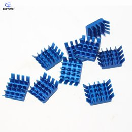 Wholesale Copper Vga Heatsink - Wholesale- 50 Pieces Lot Extruded Aluminum Heatsink Chip VGA RAM LED IC Radiator Cooling Cooler Free shipping