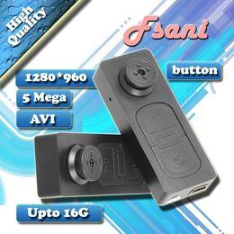 Wholesale Hidden Audio Recorders - S918 HD button camera 720*480 Spy button Camera 5.0 Mega Mini Camcorder Hidden camera DVR Audio Video recorder AVI