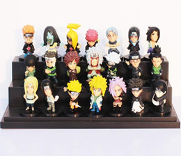 Wholesale Japanese Naruto Toys - 21pcs set Japanese Anime Naruto PVC Action Figure Toys Gaara Uzumaki Sasuke Orochimaru Figures 5~6cm