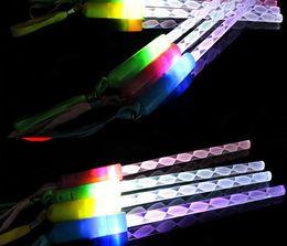 Wholesale Acrylic Glow Dark - 100pcs lot DHL 26.5cm 3 Modes Glowing Stick dark LED Light Stick Acrylic Concert LED Flash Light Stick Wedding party decoration YH003