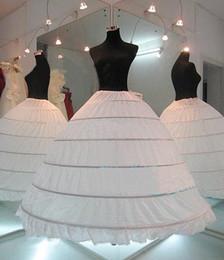 Wholesale Cheap Hoops - Cheap New 2016 In Stock Plus Size Ball Gown 6 Hoop Wedding Bridal Petticoat Crinoline Underskirt Wedding Petticoats