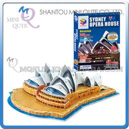 Wholesale Toy Wholesalers Sydney - Wholesale-5pcs lot Mini Qute Sydney Opera House building world architecture 3d paper model cardboard puzzle educational toy NO.G168-2
