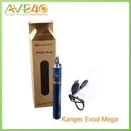 Wholesale Evod Kits Free Shipping - Kanger E cigarettes evod starter kit Evod Mega kit 1900mah battery and 2.5ml atomizer tanks 100% original free shipping from AVE 40