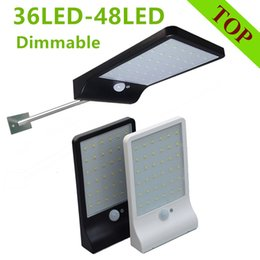 Wholesale 48 wall - Newest 450LM 36 LED-48 LED Solar Power Street Light PIR Motion Sensor Lamps Garden Security Lamp Outdoor Street Waterproof Wall Lights