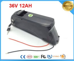 Wholesale 36v Battery For Bicycle - Free shipping and customs tax ebike 36V 500w lithium ion battery 36v 12ah electric bicycle new bottle battery For Panasonic Cell