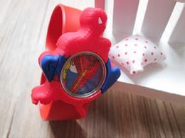 Wholesale Slap Watch Spiderman - Wholesale-hot sale 1pcs lot kids' spiderman cartoon 3D slap watch
