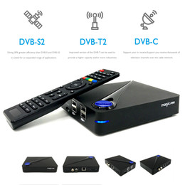 Wholesale Set Top Box Dvb T2 - IPTV BOX Fully 4K H.265 Android DVB Combo Set Top Box Magicsee C300 with dvb s2 t2 CCcam Amlogic S905D Smart TV Box