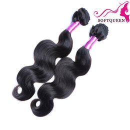 Wholesale Discount Hair Bundles - Big Discount Peruvian Malaysian Indian Brazilian Body Wave 2 Bundles Brazilian Remy Human Hair 7a Brazilian Hair Weaves Top Quality