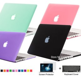 Wholesale rubberized laptop cases - New Matte Rubberized Frosted Case For Macbook Air 11.6 13.3   Pro 13.3 15.4 Pro Retina 12 13.3 15.4 inch Protector For Mac book