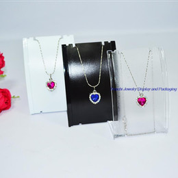 Wholesale Retail Necklace Display - Retail 3pcs Jewelry Display Holder for Necklace Stand Rack Plastic Mannequin Earring Display Three Color Choice