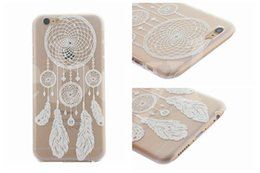 Wholesale Cell Phones Cases 4s - Henna White Floral Paisley flower mandala Plastic Hard back cell phone cases For Apple iphone 6 5 4S 5S 6 PLUS 5.5