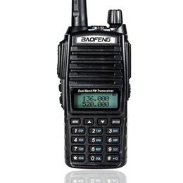 Wholesale Yaesu Uhf - Wholesale-UV-82 baofeng walkie talkie Portable Radio yaesu 5w VHF UHF Dual Band 136-174 400-520MHz radio comunicador Double PTT Headset