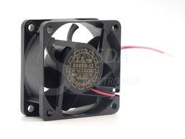 12 вентиляторов охлаждения онлайн-D60SH-12 Бесплатная доставка Оптовая Yate Loon 6025 60*60*25 мм DC 12V 0.18 A 2Wire вентилятор охлаждения