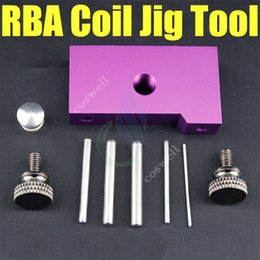 Wholesale Micro Jigs - newest coil jig tool Portable Coil tools Heating coil RDA with 5 posts acrylic Stainless steel Micro Coil Builder Tool