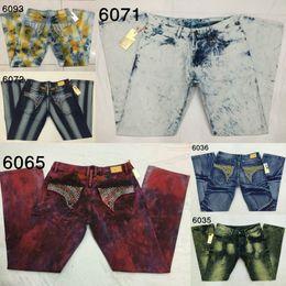 Wholesale Multi Pocket Trousers Jeans - Retro Rock Revival Jeans Man Robin Jeans Rivet Pocket Hip Hop Style Denim Pants Man Jean Trouser