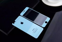 Wholesale Iphone Front Back Skin - Glitter Tempered Glass Premium For Iphone 6 Plus 6S 4.7 5.5 SE 5 5S Full Body Color Clear Front Back Screen protector Apple Film skin Luxury