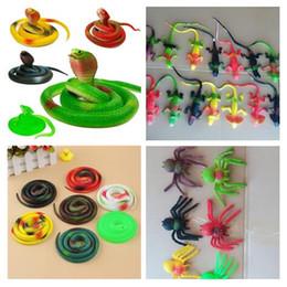 divertidos juguetes falsos Rebajas 2018 novedad regalo de Halloween Tricky divertido Spoof Toys simulación suave Scary falso serpiente araña Lizard Horror Toy para evento de la fiesta