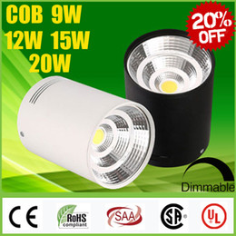 Wholesale Big Light Fixtures - Big Sale CREE 9W 12W 15W 20W Surface Mounted LED COB Downlights Dimmable CRI>88 Warm Cool Natural white Fixture Ceiling Down Lights Lamp CSA