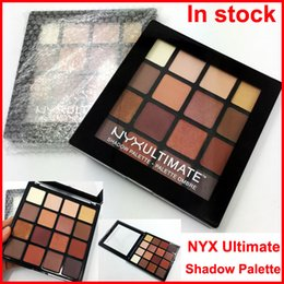 Wholesale Eye Shadow Palette Nude - Newest Makeup NYX Ultimate Eye shadow Palette 16 Colors NYXUltimate Shadow Ombre Palette Matte Nude Shimmer Eyeshadow DHL Free shipping