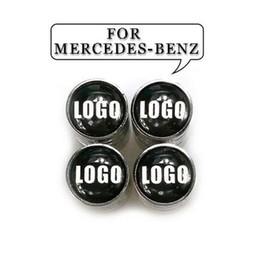 Canada 4pcs / lot voiture emblème Auto Tire Bouchons De Valve pour Benz Sécurité Roue Pneu Air Valve Tige Couverture pour Mercedes-Benz cheap air emblem Offre